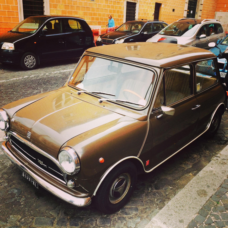 Classic Mini Car in Rome