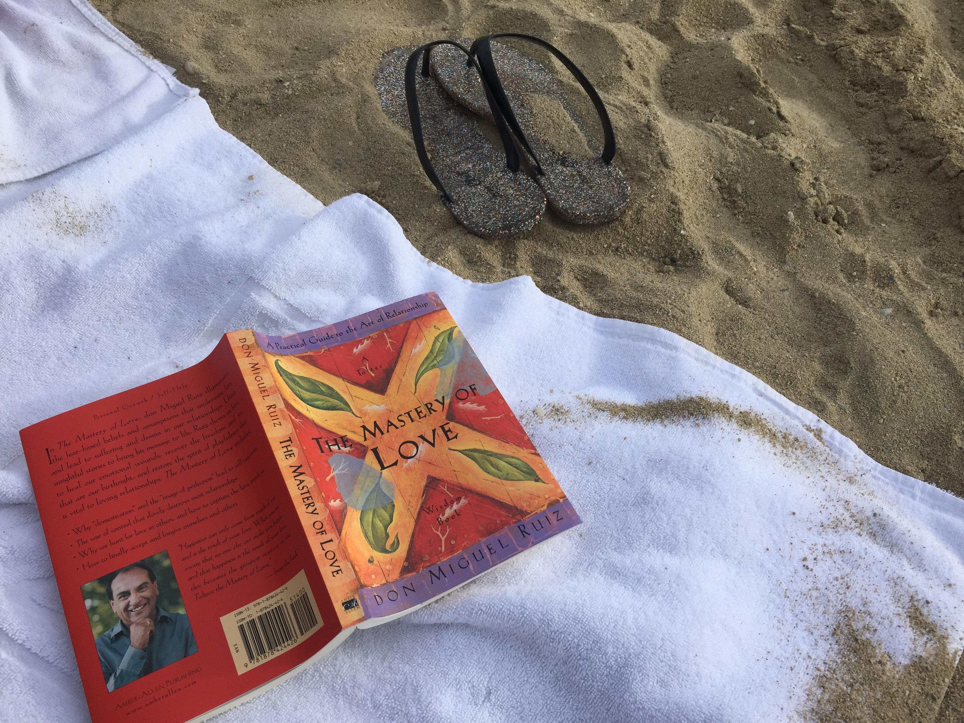 Barcelona Beach Reading