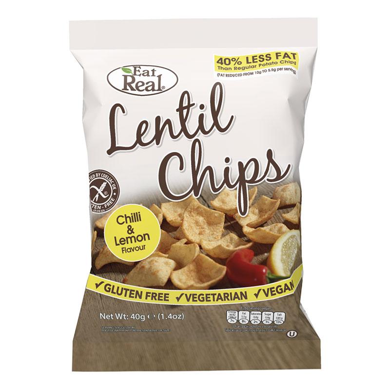 Eat Real Chilli Lemon Lentil Chips
