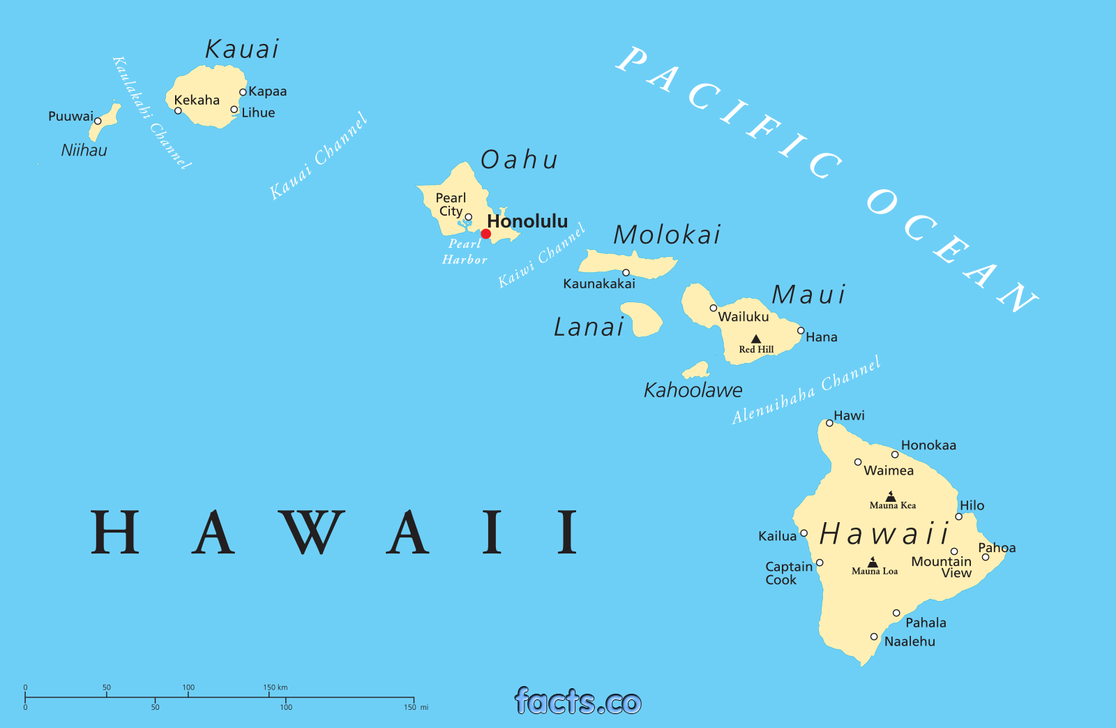 Hawaii Detailed Map