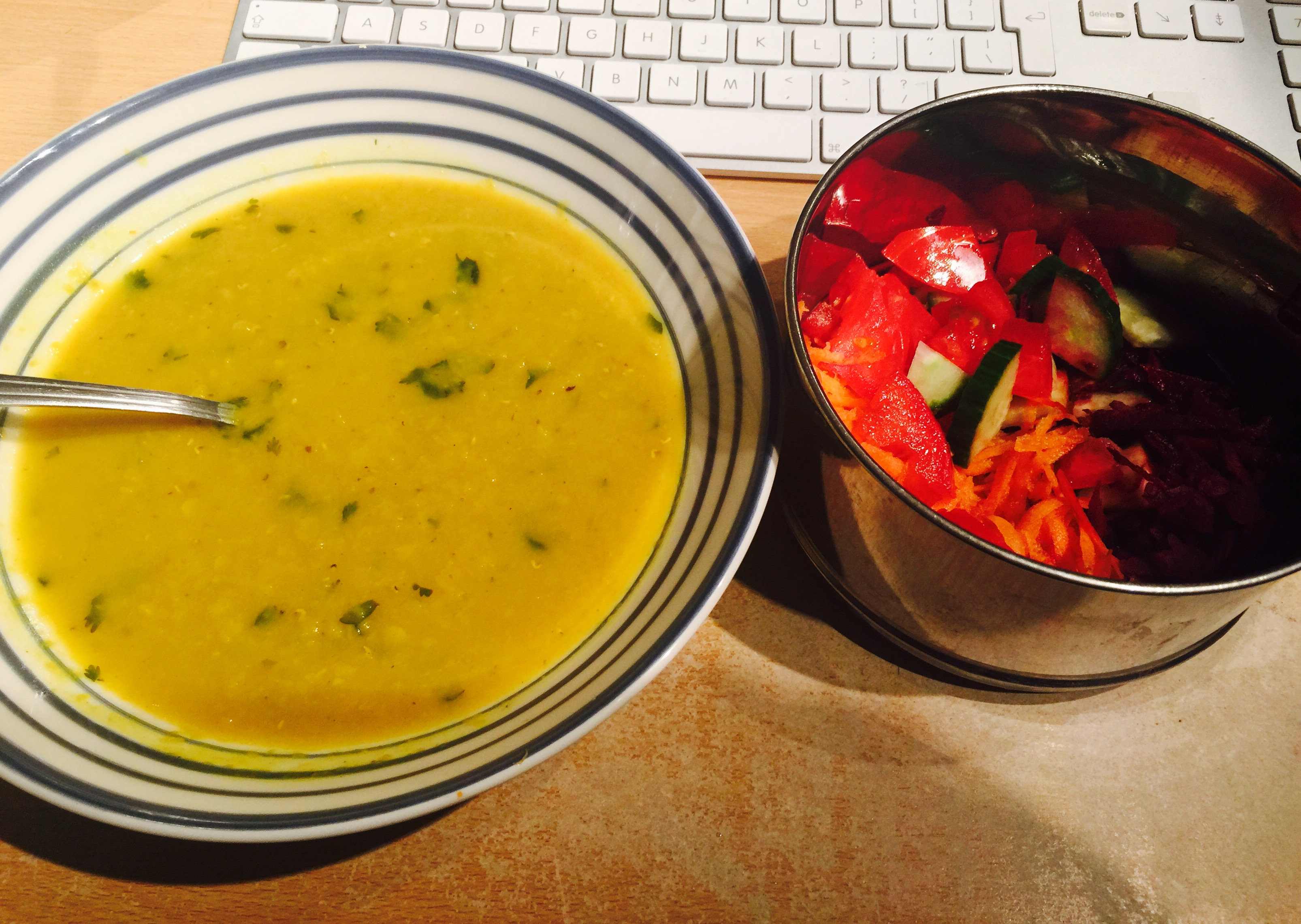 dhal and salad