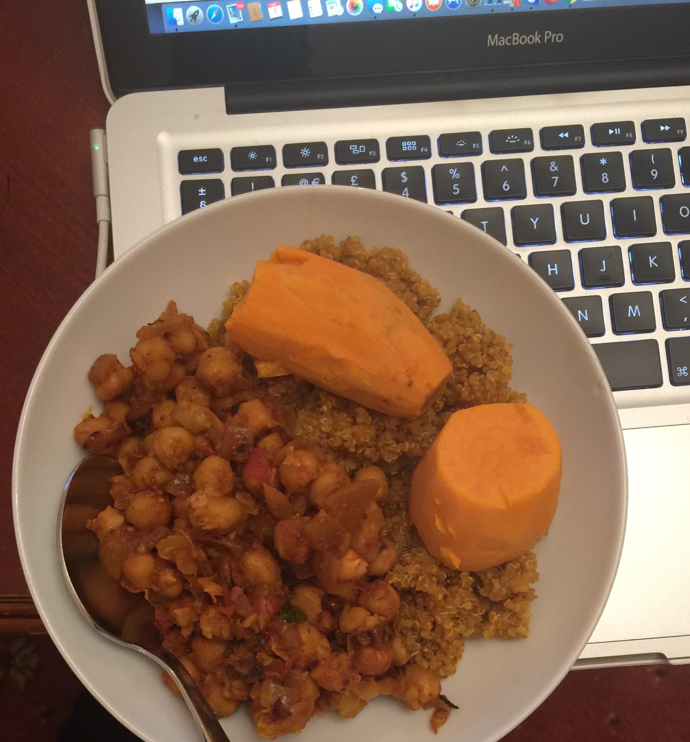 quinoa chickpeas sweet potato